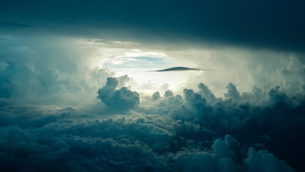 This Riddle Game asked a question about air. We provide here, a picture of the atmosphere with clouds, to represent air.