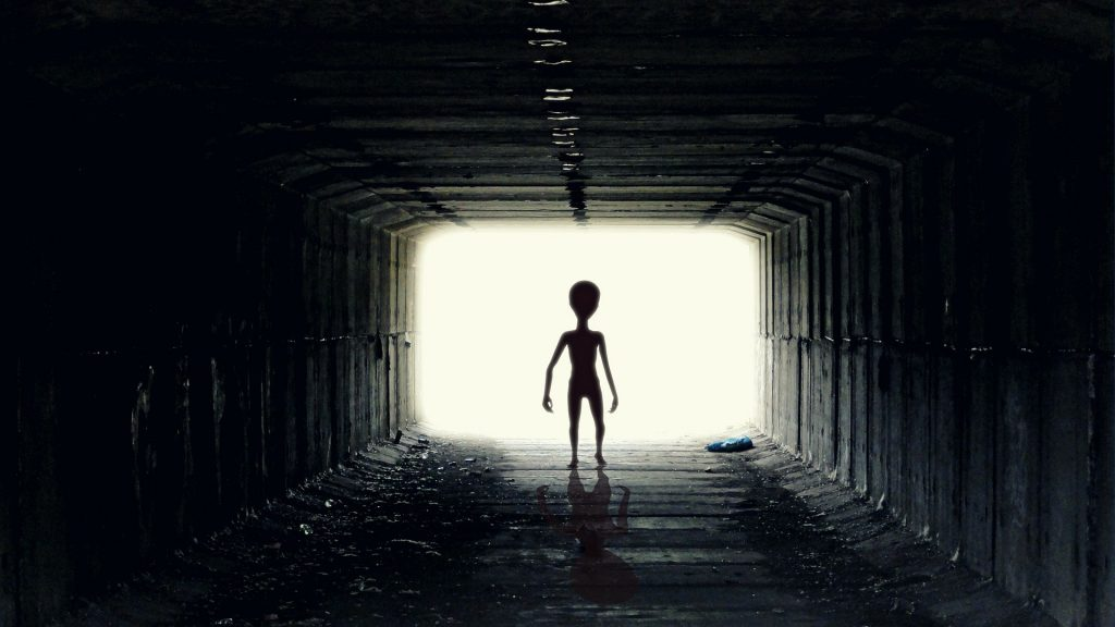 The answer to our Riddle is Alien. The image is of an alien in the corridor of their ship!
