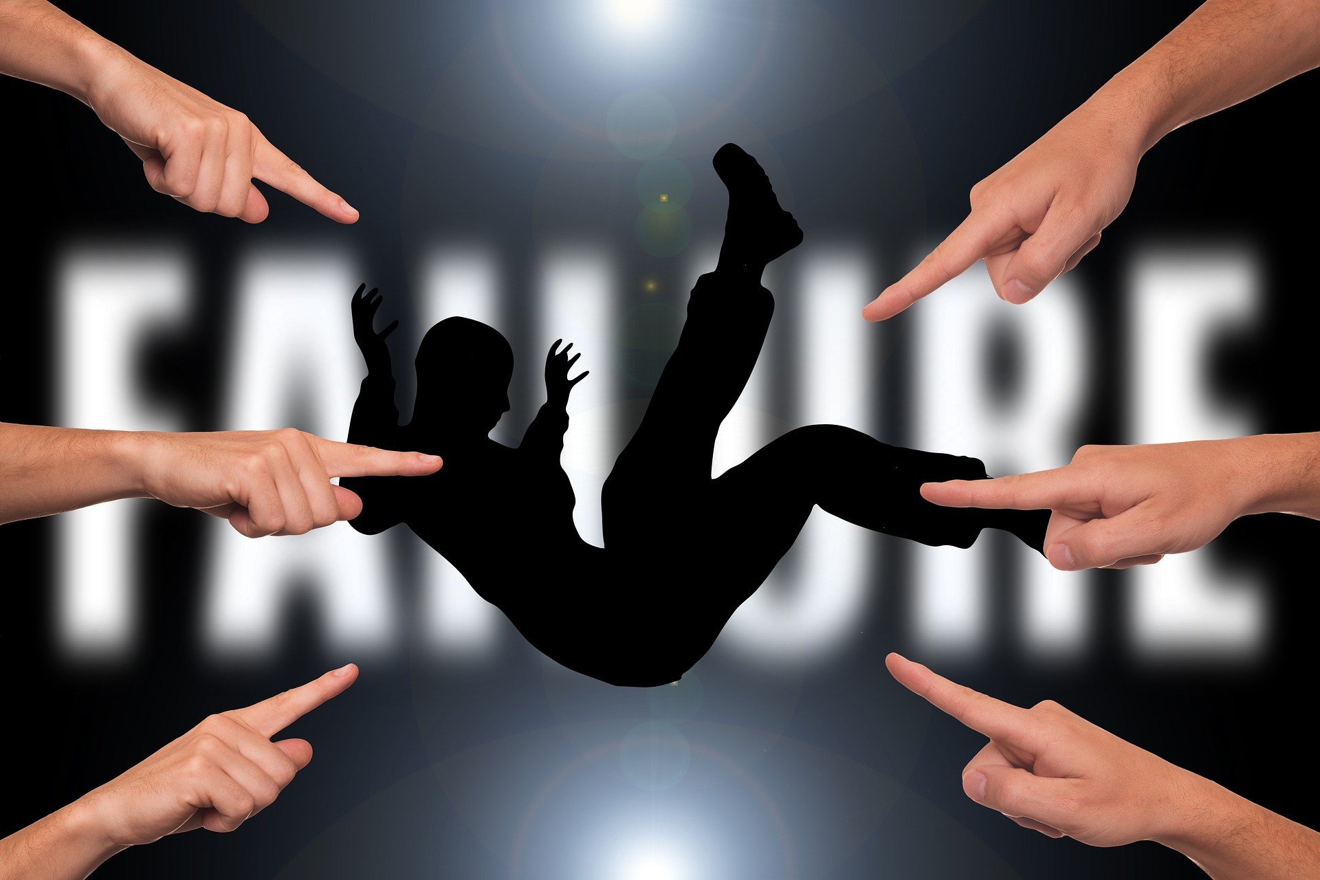 This Conundrum is about someone who trips you, tortures you, and comforts you in time of need. The picture is of a person falling and a bunch of fingers pointing indicating failure.