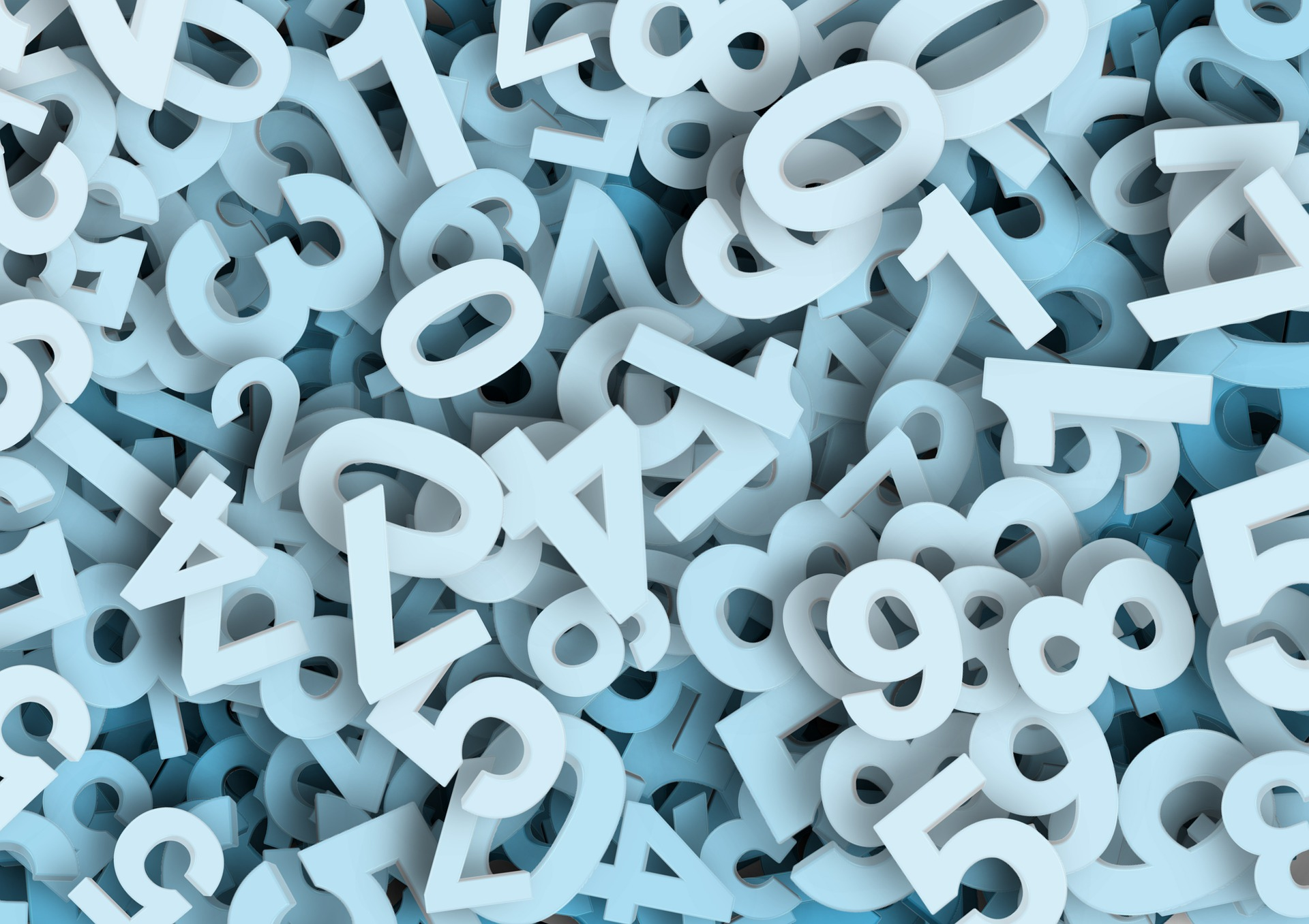 Eyezak and his Riddle App ask a question about numbers. This image has numbers scattered around.