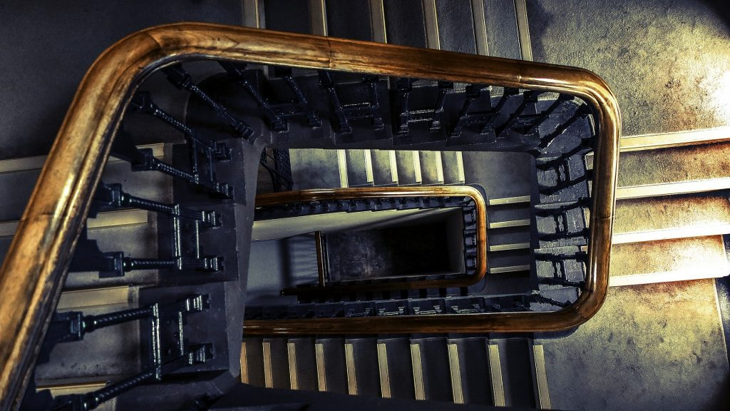 Stairs is an answer that satisfies all the conditions of our RiddleRobot Eyezak's riddle. This picture is of some amazingly beautiful stairs.